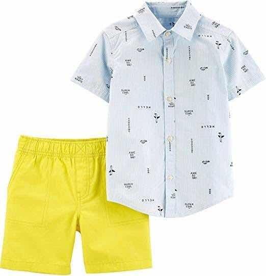 Carters Set Conjunto Niño 3 Años Infante Short Camisa