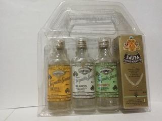 Colección De Mini Botella De Tequila 50ml Sauza