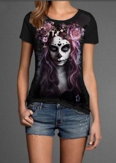Blusa Feminina Skull Caveira Fashion Mulher