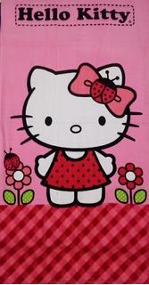 Toalla Medio Baño Hello Kitty Rosa