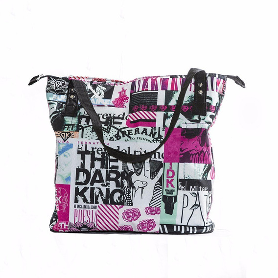 Bolso De Tela Estampada Diseño Exclusivo De The Dark King