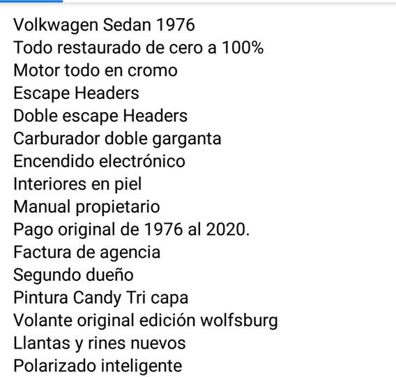 Volkswagen Sedan 1976 Modificado Del 0 Al 100%