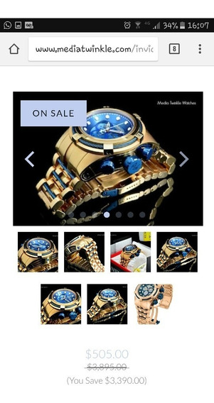 Invicta 12745 Reserve Bolt Zeus Blue Gold