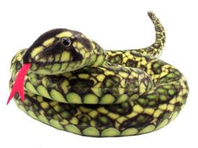 Cobra Verde De Pelúcia 1,80 Mts Antialérgico Lavável