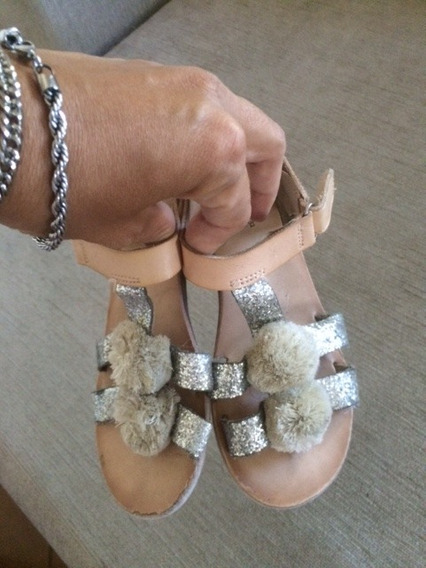 Sandalias Zara Cuero Nena Talle 32