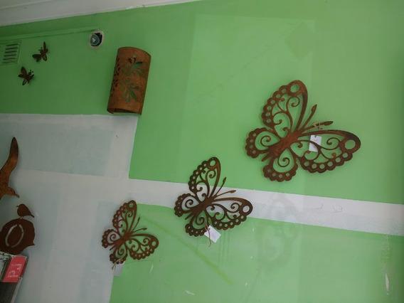 Mariposa Para Pared De Chapa Oxidada