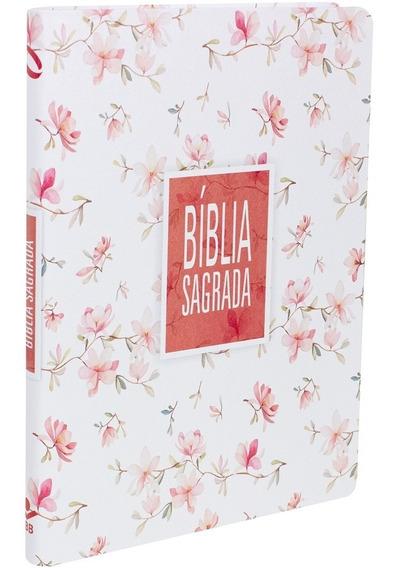 Bíblia Sagrada Letra Grande Ultra Fina (naa) Floral Branca
