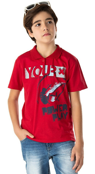Roupa Infantil Juvenil Camisa Gola Polo Manga Curta Algodão