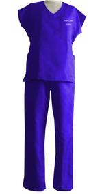 Pijama Cirúrgico Hospitalar Unissex Bordado Kit 10 Unid