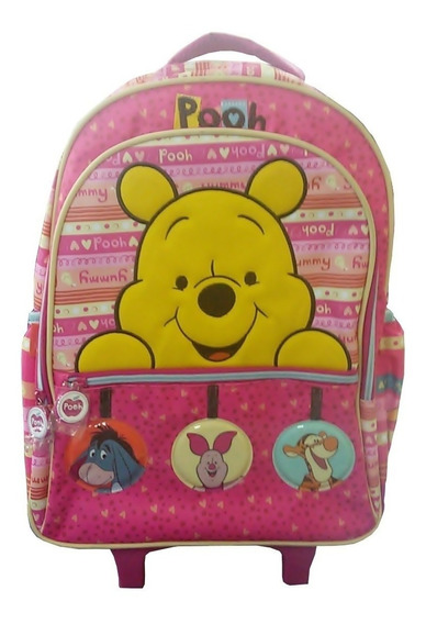 Mochilete Escolar Tilibra Pooh Luxo 145921 - Shop Tendtudo