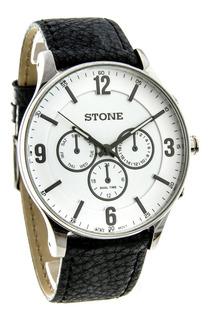 Reloj Stone Analogico Clasico Malla De Cuero Envio Gratis !