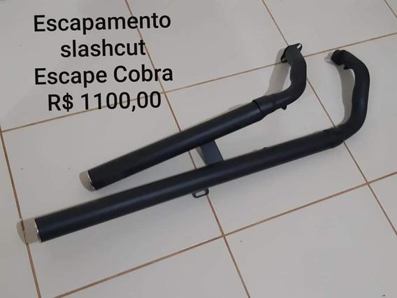 Escapamento Shadow 750 Slashcut 2.1/2 (escape Cobra)