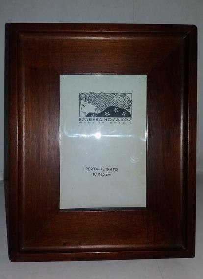 Porta Retratos Medeira De Mogno Década De 1970 Raridade