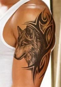 Tatuagem Temporária * Fake Tattoo - R:468 * Lobo