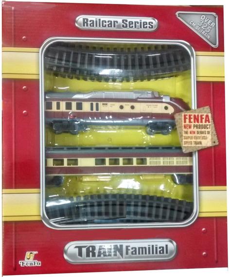 Locomotora Tren Fenfa 2 Pilas! 2 Vagones Escala 1:87 Jiujim