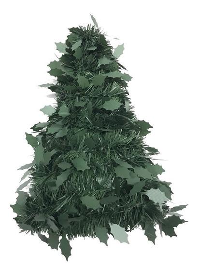Árbol Navidad Troquelado Hoja Metal / Verde Pino 30 Cm #350