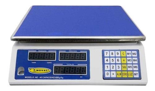 Báscula comercial digital Noval NE-40 40kg 120V