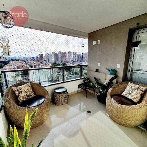 Apartamento Com 2 Dormitórios À Venda, 77 M² Por R$ 620.000,00 - Jardim Irajá - Ribeirão Preto/sp - Ap7062