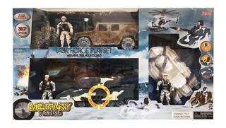 Military Force 4 Figuras Playset Militar C/accesorios 71311