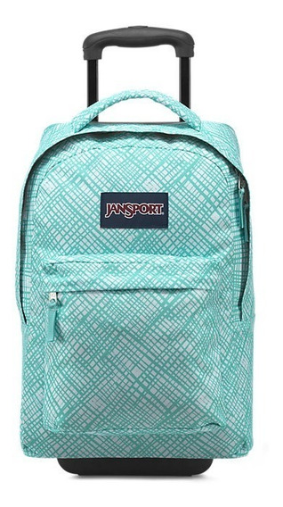 Mochila Jansport Wheeled Superbreak Aqua Dash Original