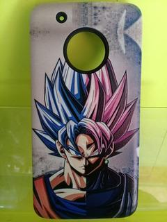 Funda Case Doble Con Diseño Motorola Moto G5 Plus Goku