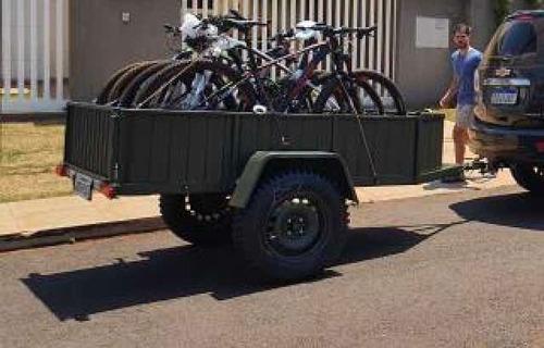 Carretinha Com Suporte Para 4 Bicicletas