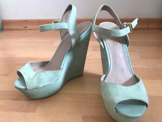 Zapatos Sandalias Aldo Talle 38 Gamuzado