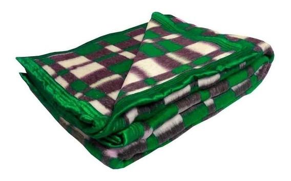 Cobertor Guaratinguetá Boa Noite Casal verde-bandeira Xadrez