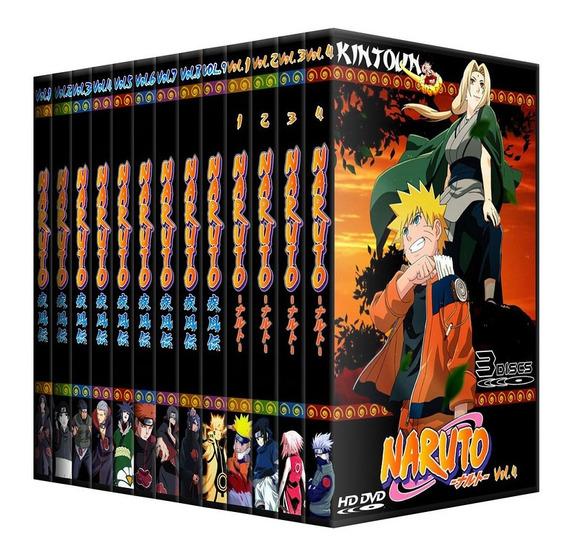 Dvds Naruto Clássico + Shippuden + Filmes 720 Episódios