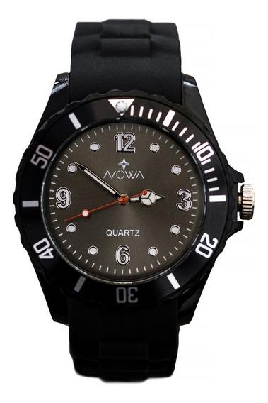Relógio Masculino Preto Nowa Original Barato Casual