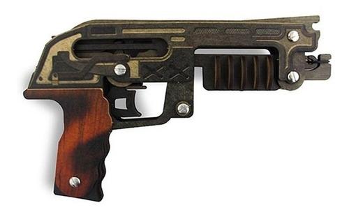 Pistola Que Dispara Elásticos | Escopeta | Madeira Mdf