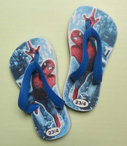 Ojotas Sandalias Niños Spiderman Hombre Araña
