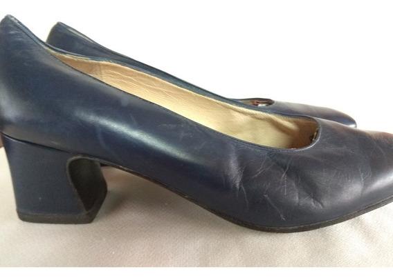 Zapatos Clásicos De Cuero Ferraro Color Azul