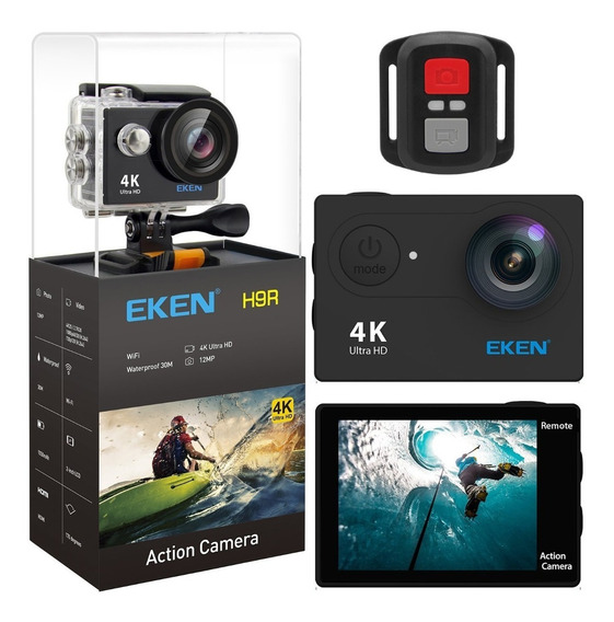 Câmera Eken H9r 4k Original Wifi Controle Mergulho Gopro H9