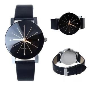 Reloj Hombre Mujer Tamaños Estrella Importado Negro Facetado