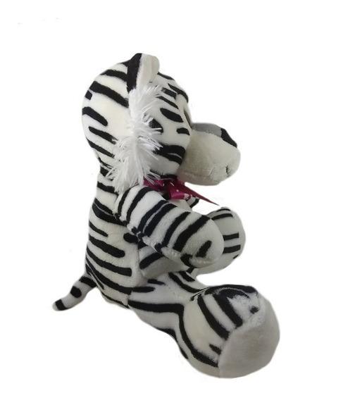 Pelúcia Safari 30cm Tigre Branco Presente Amor Promoção
