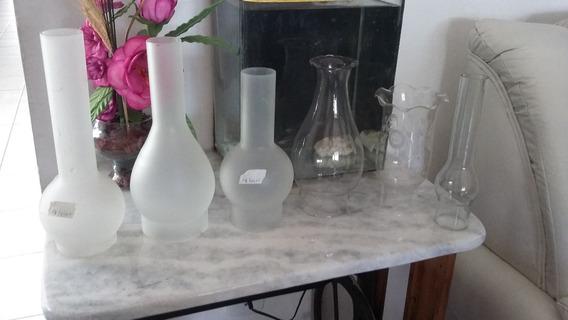 6 Cupulas De Vidro Para Lampião Antigo