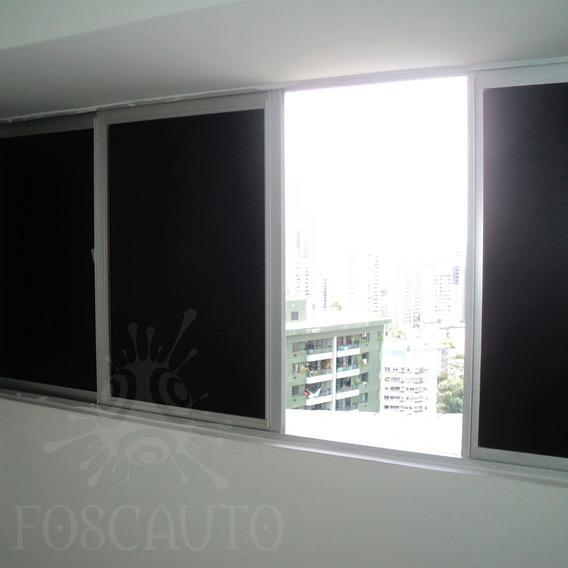 Adesivo Blackout Preto Fosco Luz Solar Portas Janelas Vidro