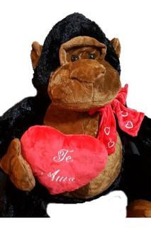 Mono Gorila De Peluche Grande Corazon Extrasuave