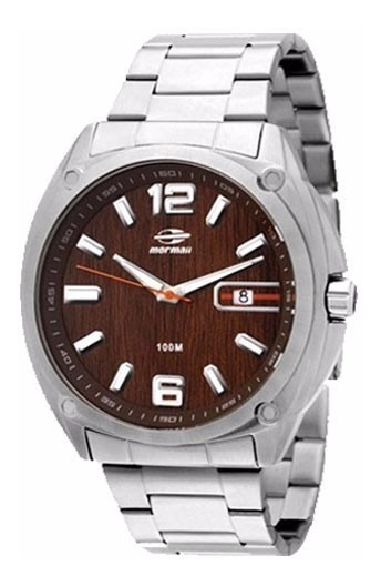 Relógio Mormaii Masculino 2315aaj/1m Aço Marrom Analogico
