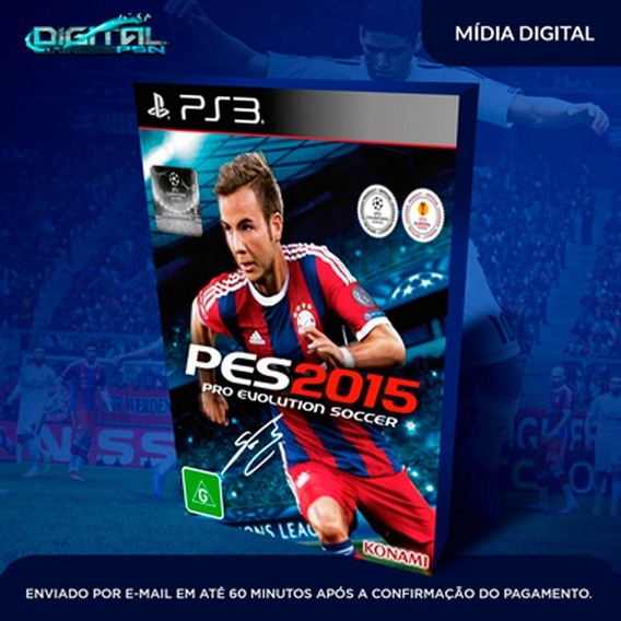 Pro Evolution Soccer 2015 Ps3 Midia Digital Envio Hj!
