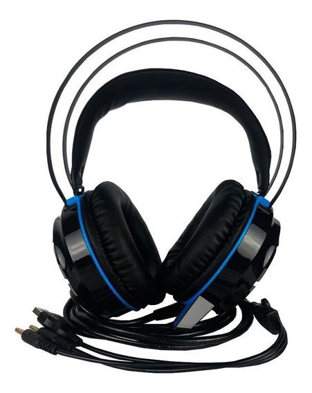 Super Headset Gamer 7.1 Conexão Usb P2 Com Fio Kp-417
