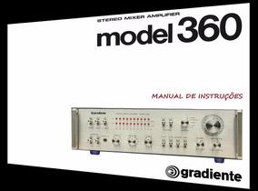 Manual Do Amplificador Gradiente Model 360 (cópia Colorida)