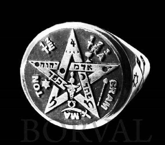 Anel Tetragrammaton, Prata 925 Alta Definição