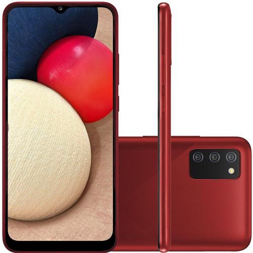 Imagem 1 de 6 de Celular Samsung Galaxy A02s Vermelho 32gb 6.5  13mp 2mp 2mp
