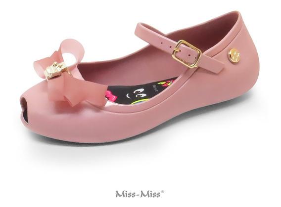 Sapatilha Infantil Miss Miss Peep Toe Little Queen Ref.10050