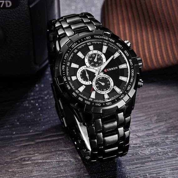 Relógio Curren Masculino Preto