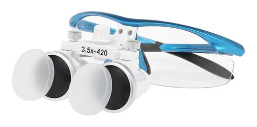 Imagen 1 de 6 de Lupa Binocular Dental 3.5x 420mm Lupa Dental Óptica