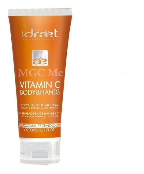 Vitamina C Crema Hidratante Para Manos Y Cuerpo Idraet