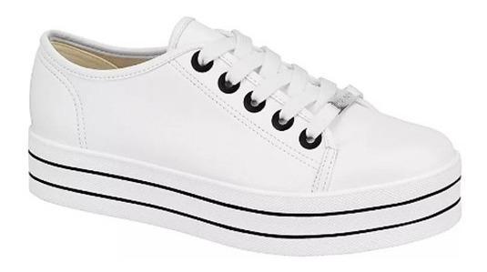 Tenis Moleca 5618.633 Napa Flatform Branco Calçados Bola7